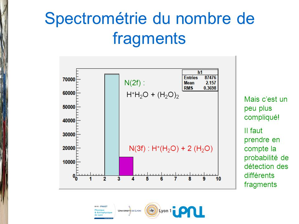 Spectrométrie du nombre de fragments