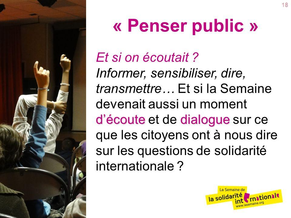 « Penser public »
