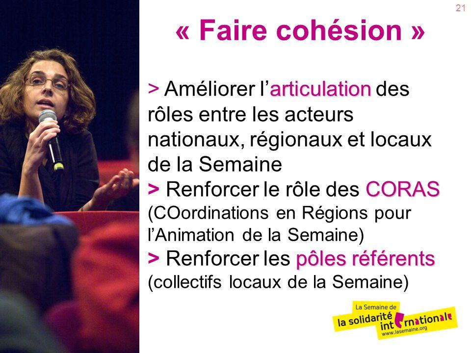 « Faire cohésion »