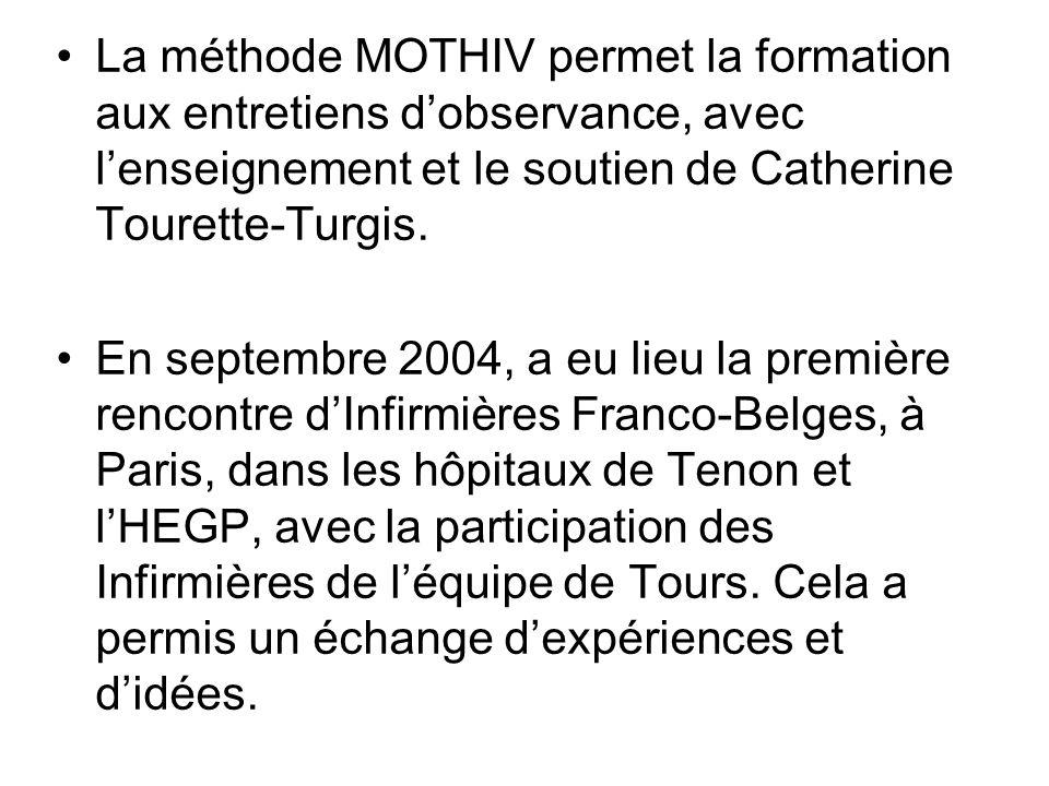 La méthode MOTHIV permet la formation aux entretiens d'observance, avec l'enseignement et le soutien de Catherine Tourette-Turgis.
