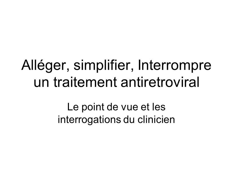 Alléger, simplifier, Interrompre un traitement antiretroviral