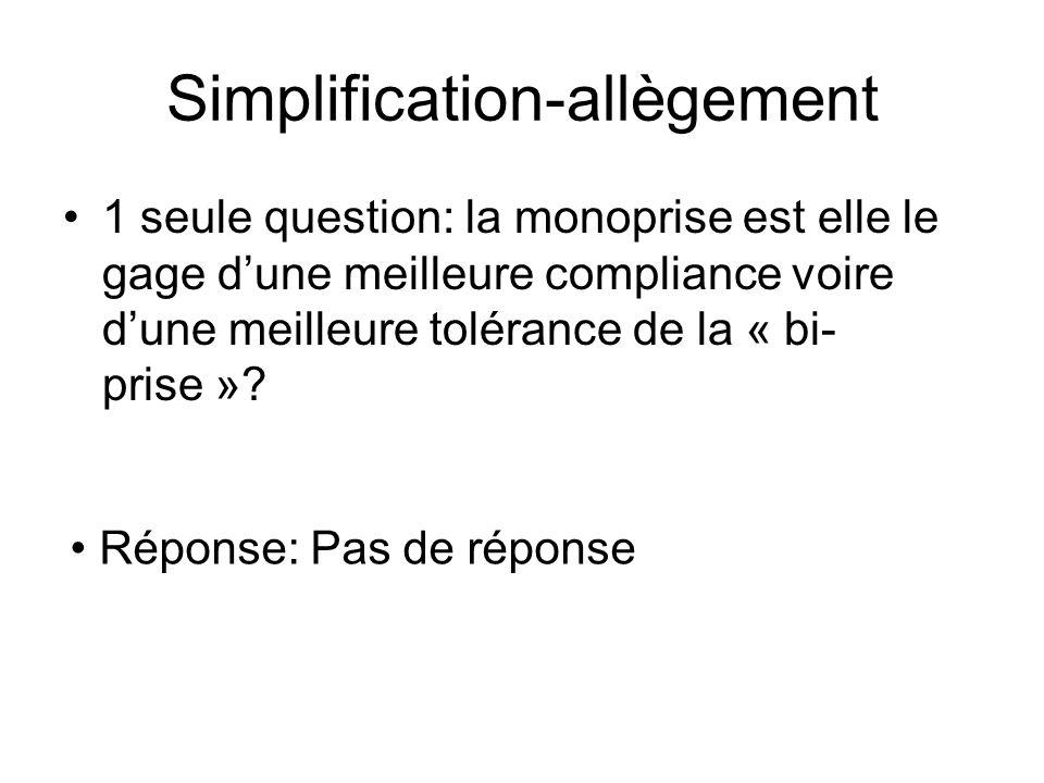 Simplification-allègement