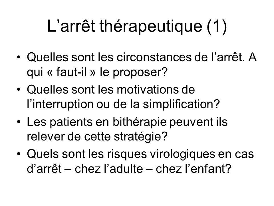 L'arrêt thérapeutique (1)