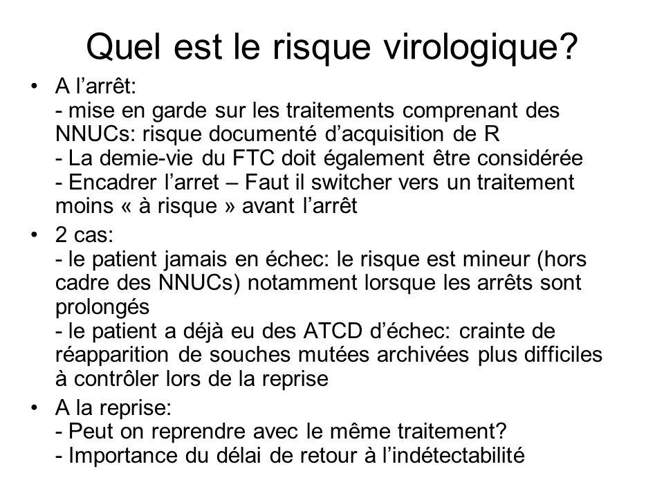 Quel est le risque virologique