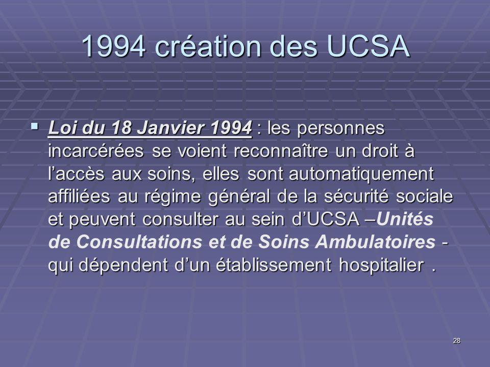 1994 création des UCSA