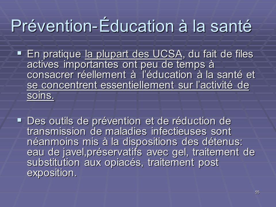 Éducation à la santé Prévention-