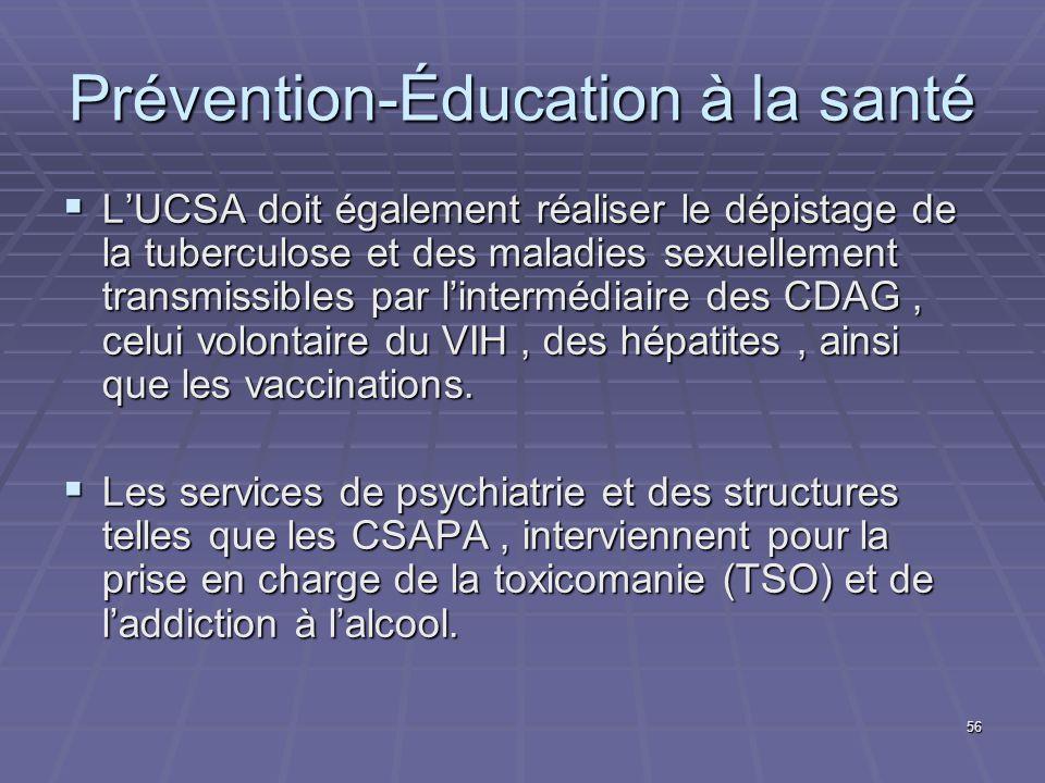 Prévention-Éducation à la santé