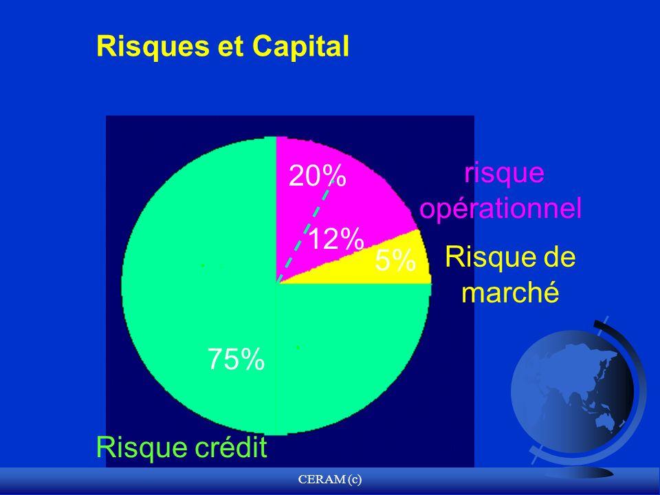 Risques et Capital risque opérationnel 20% 12% Risque de marché 5% 75%