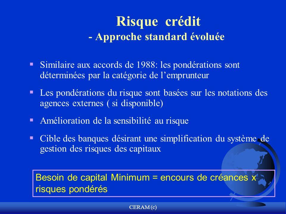 Risque crédit - Approche standard évoluée