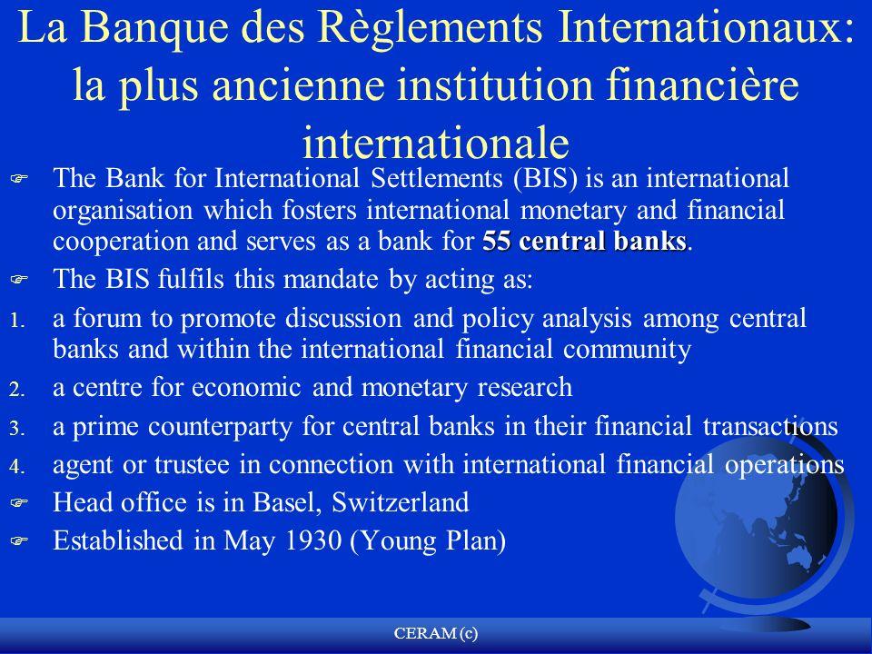 La Banque des Règlements Internationaux: la plus ancienne institution financière internationale