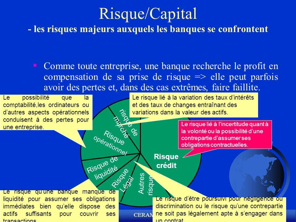 Risque/Capital - les risques majeurs auxquels les banques se confrontent