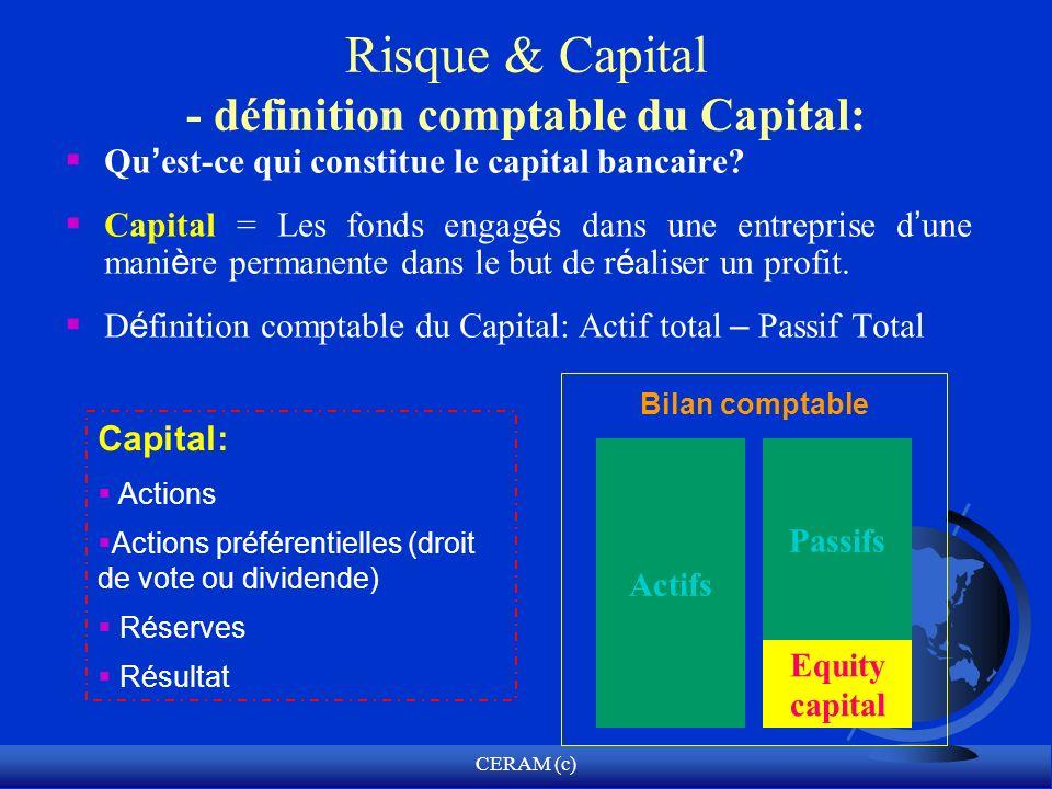 Risque & Capital - définition comptable du Capital: