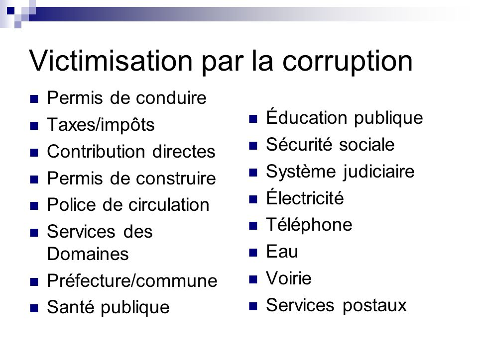 Victimisation par la corruption