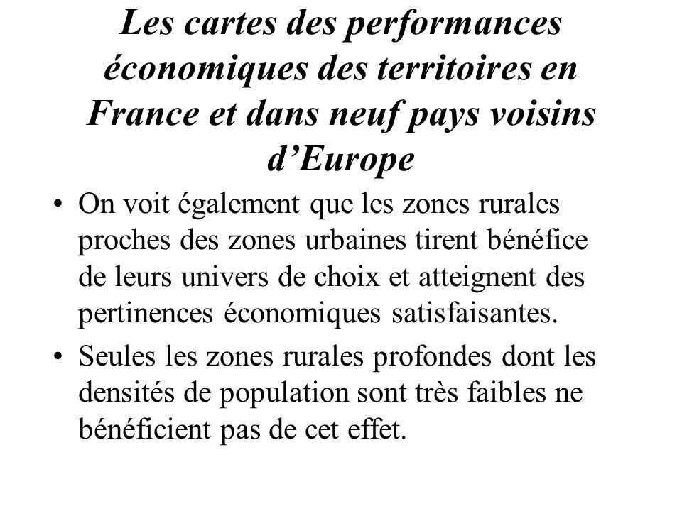 Les cartes des performances économiques des territoires en France et dans neuf pays voisins d'Europe