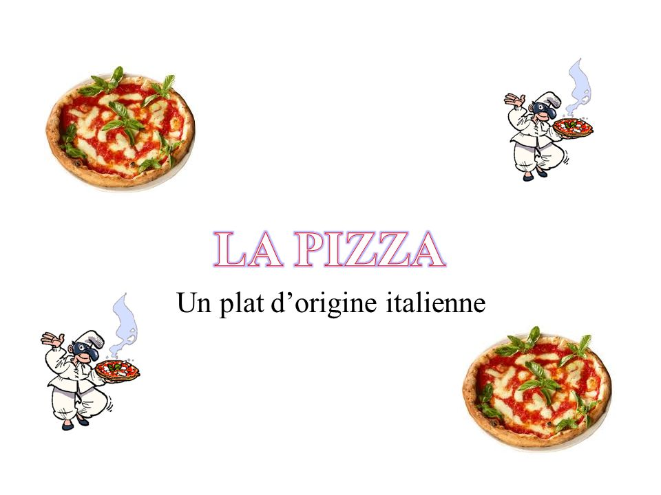 Un plat d'origine italienne