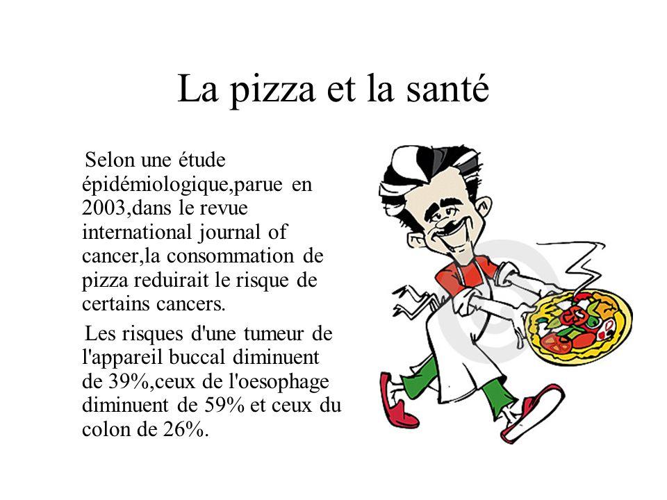 La pizza et la santé