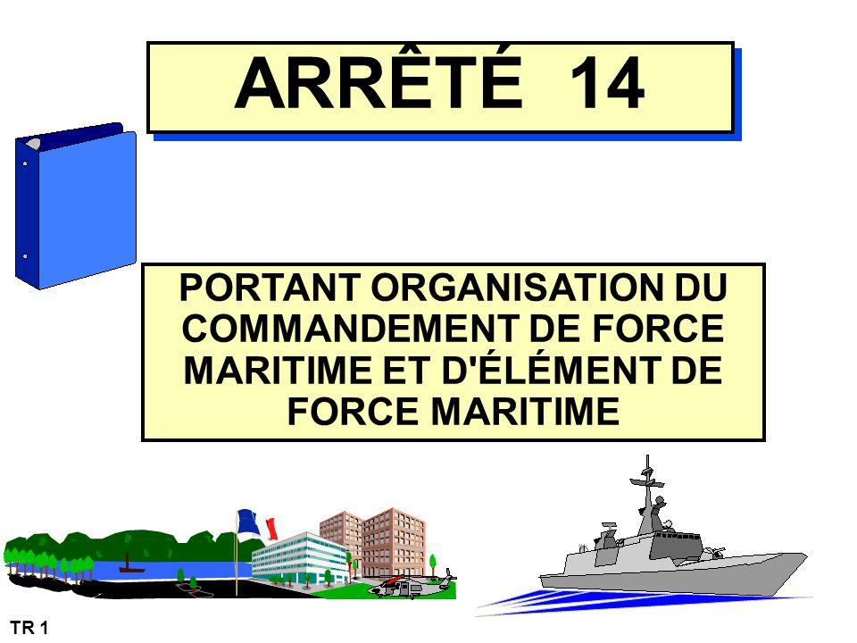 PORTANT ORGANISATION DU COMMANDEMENT DE FORCE MARITIME ET D ÉLÉMENT DE