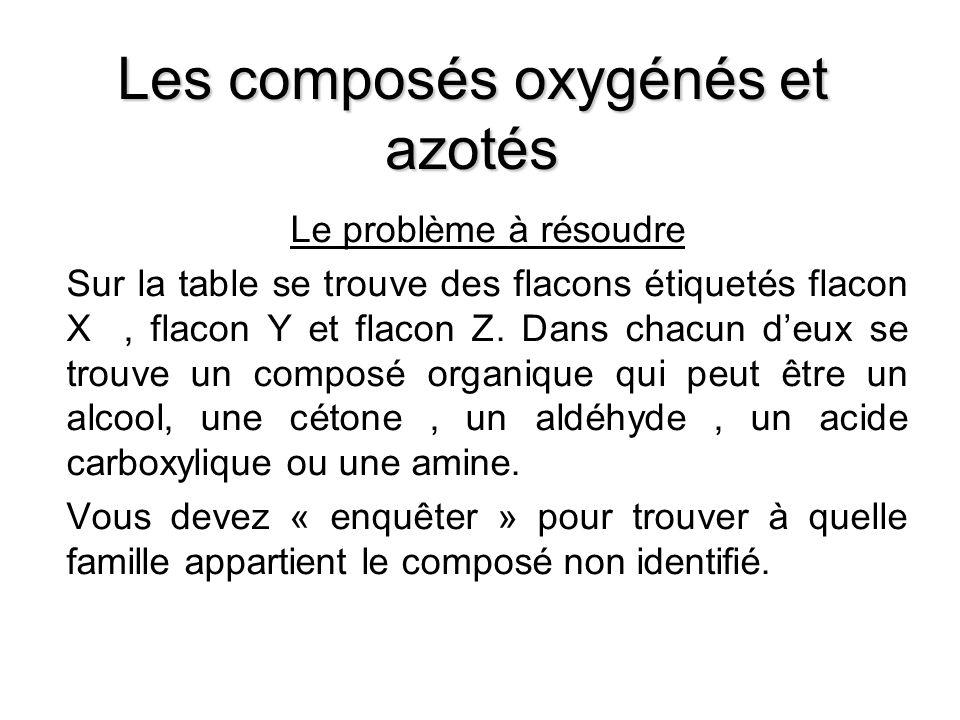 Les composés oxygénés et azotés