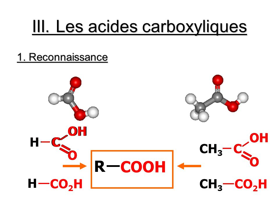 III. Les acides carboxyliques
