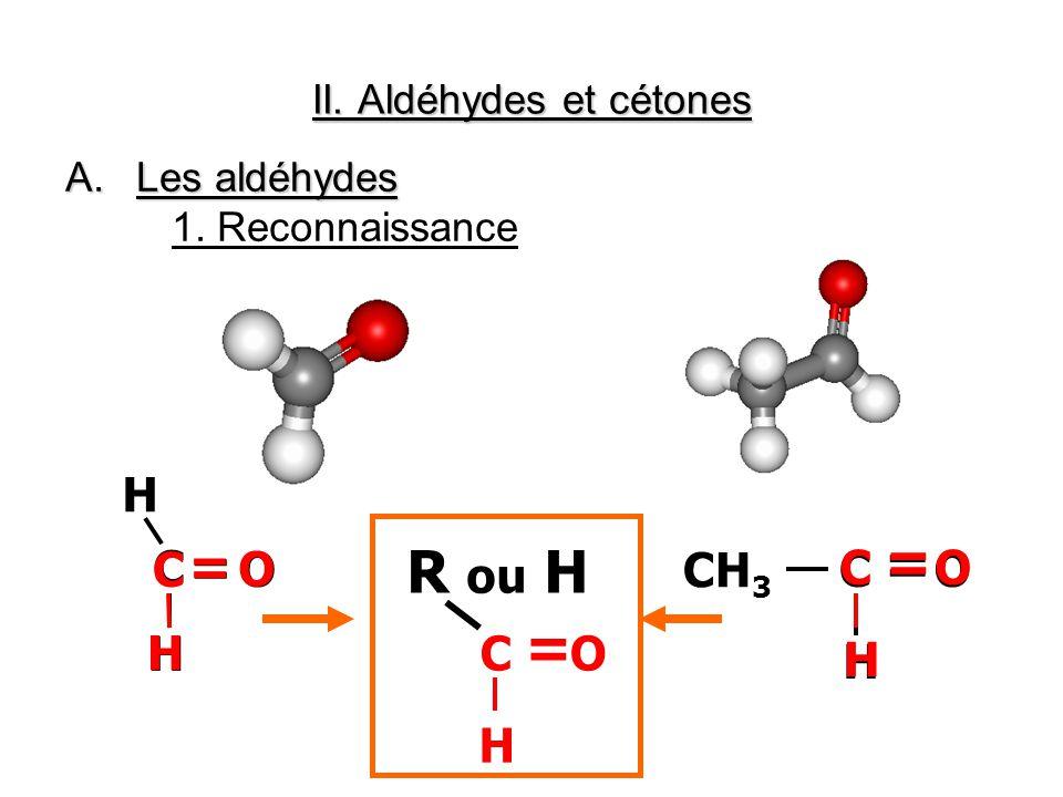 II. Aldéhydes et cétones