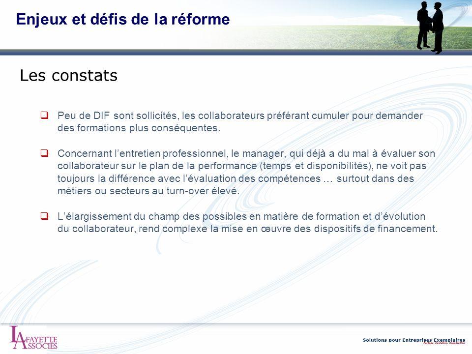 Enjeux et défis de la réforme