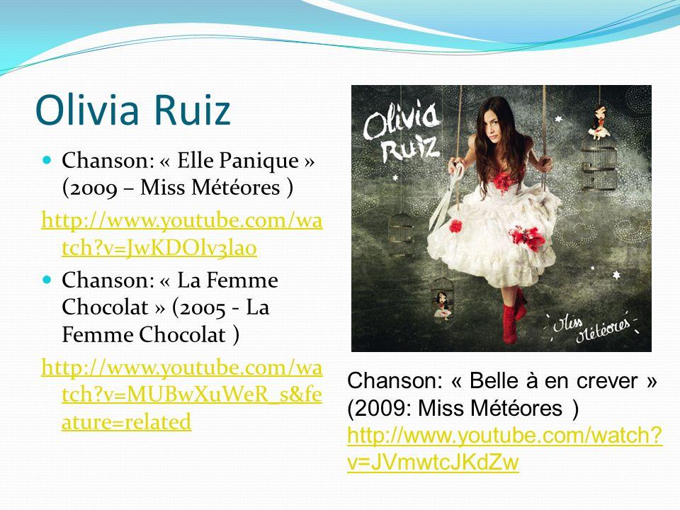 Olivia Ruiz Chanson: « Elle Panique » (2009 – Miss Météores )