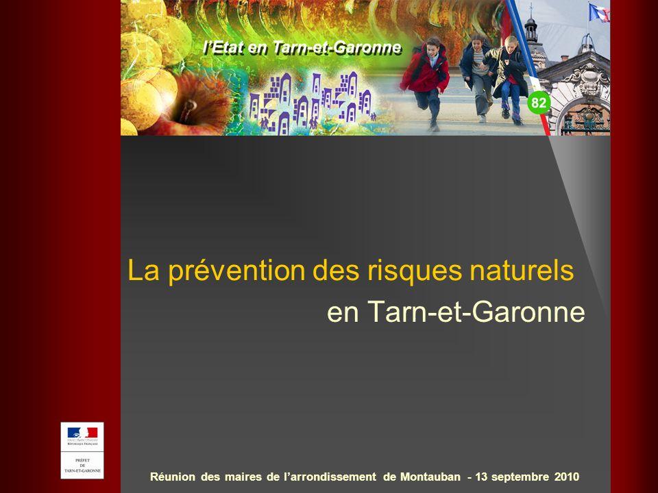 La prévention des risques naturels