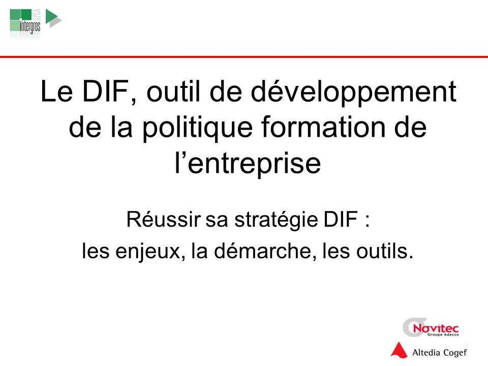 Le DIF, outil de développement de la politique formation de l'entreprise