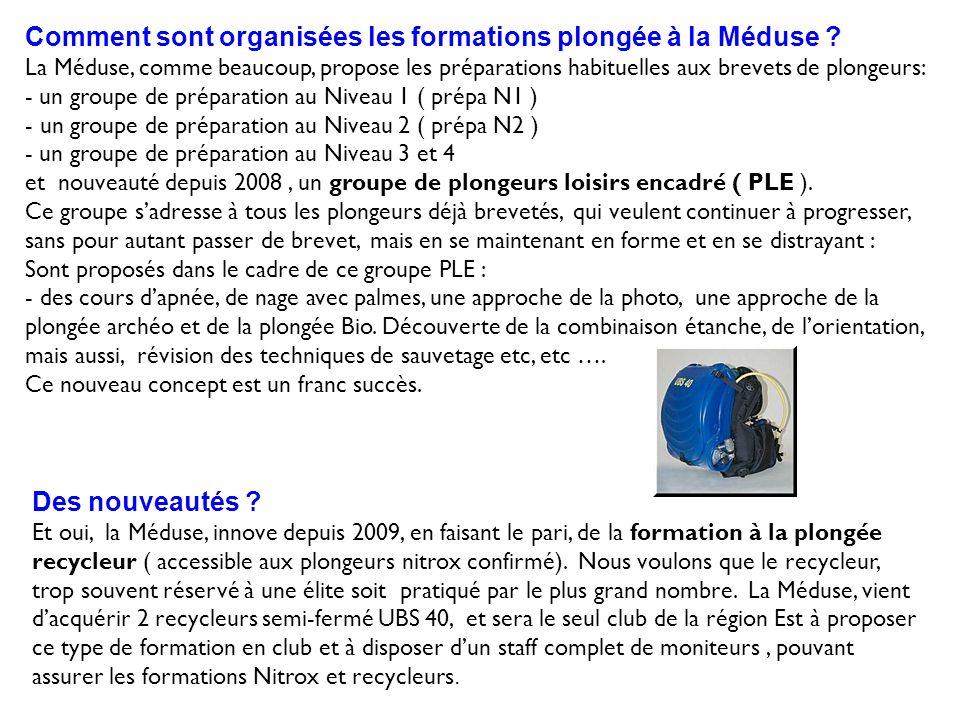Comment sont organisées les formations plongée à la Méduse