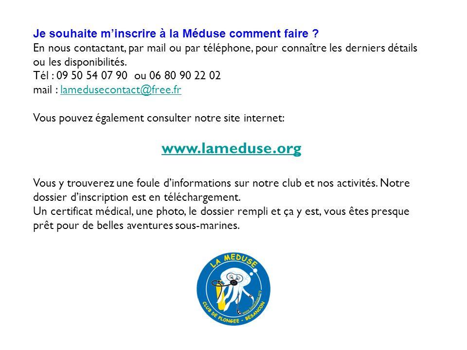 www.lameduse.org Je souhaite m'inscrire à la Méduse comment faire