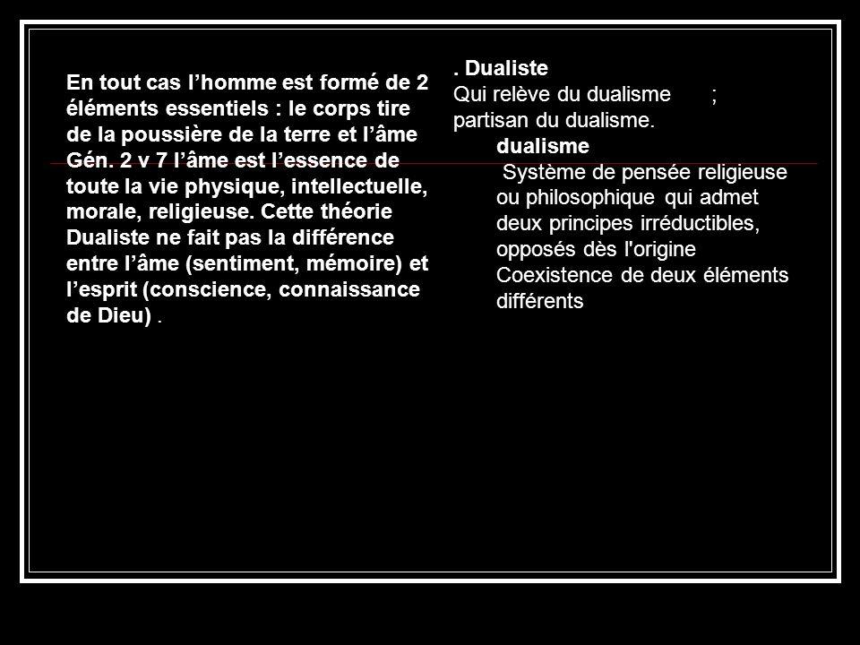 . Dualiste Qui relève du dualisme ; partisan du dualisme.