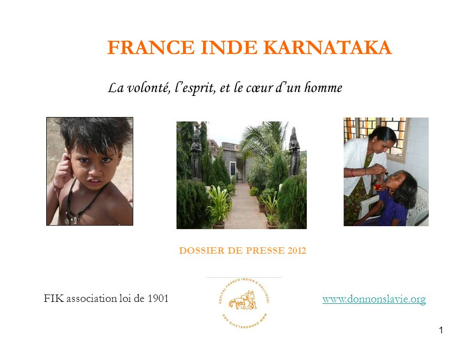 DOSSIER DE PRESSE 2012 FRANCE INDE KARNATAKA