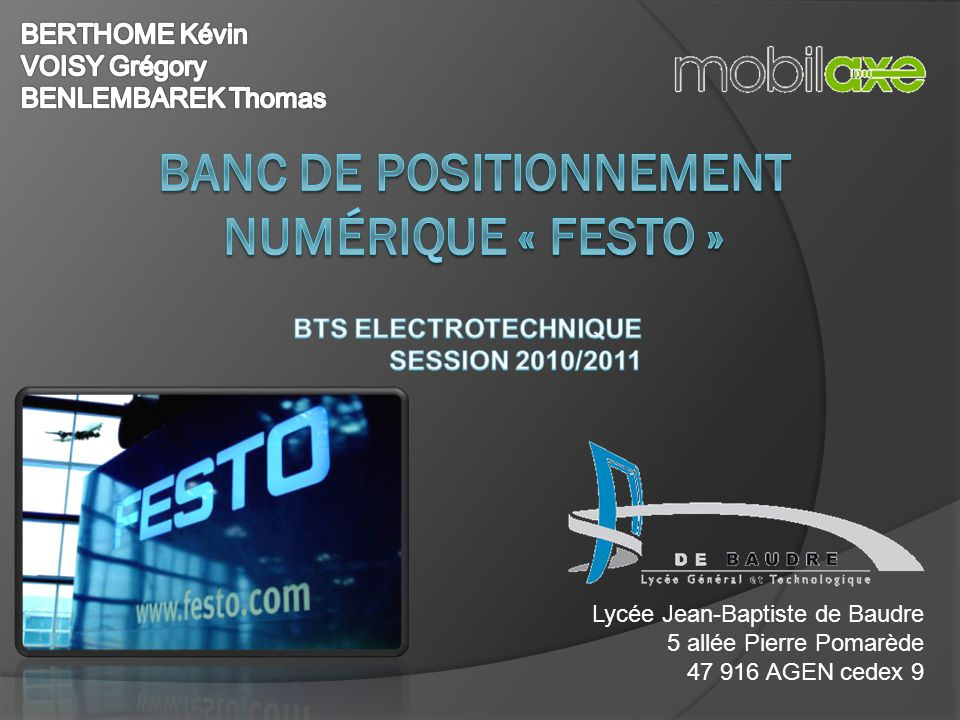 banc de positionnement num rique festo ppt video online t l charger. Black Bedroom Furniture Sets. Home Design Ideas