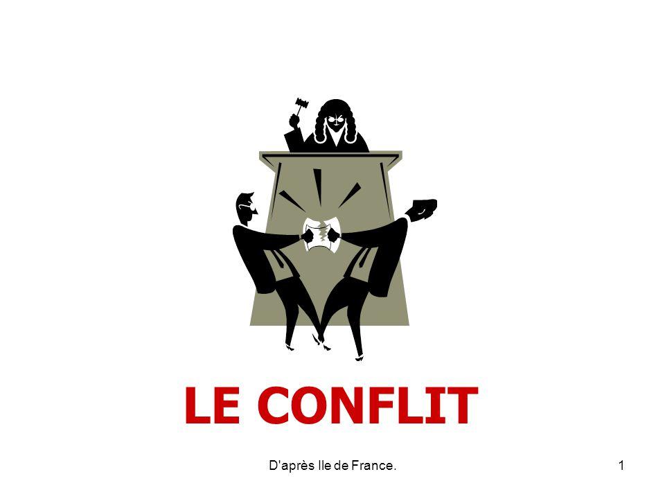 LE CONFLIT Le conflit est un concept difficile à définir