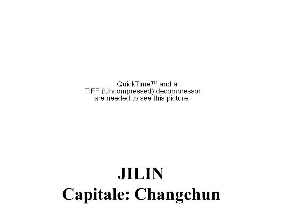 JILIN Capitale: Changchun