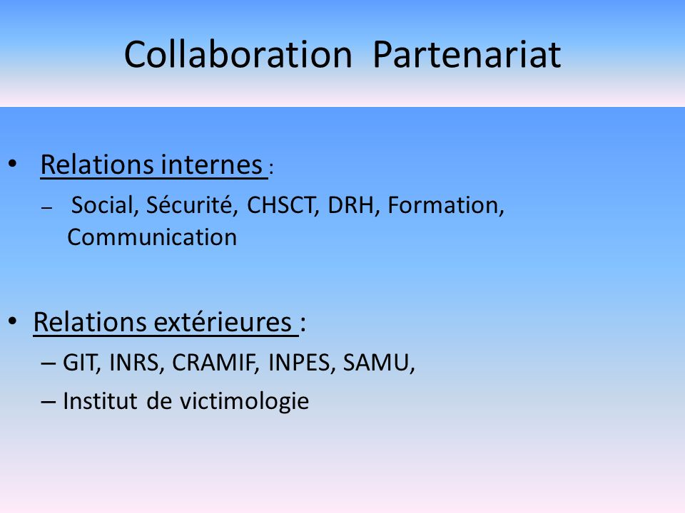 Collaboration Partenariat