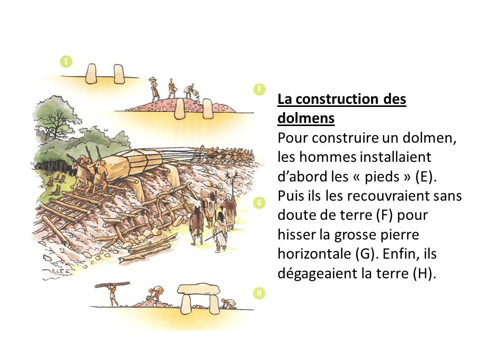 La construction des dolmens