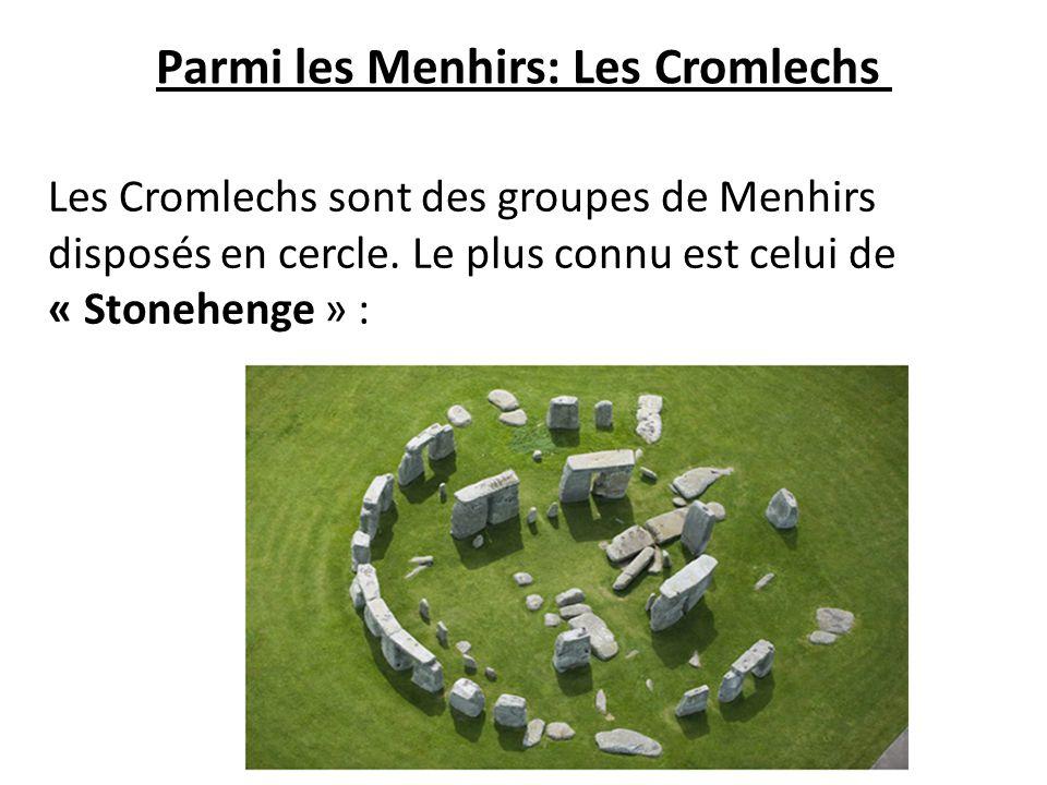 Parmi les Menhirs: Les Cromlechs