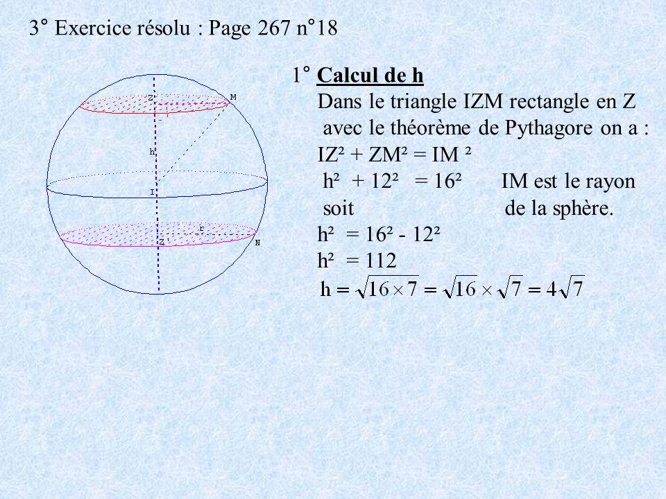 3° Exercice résolu : Page 267 n°18