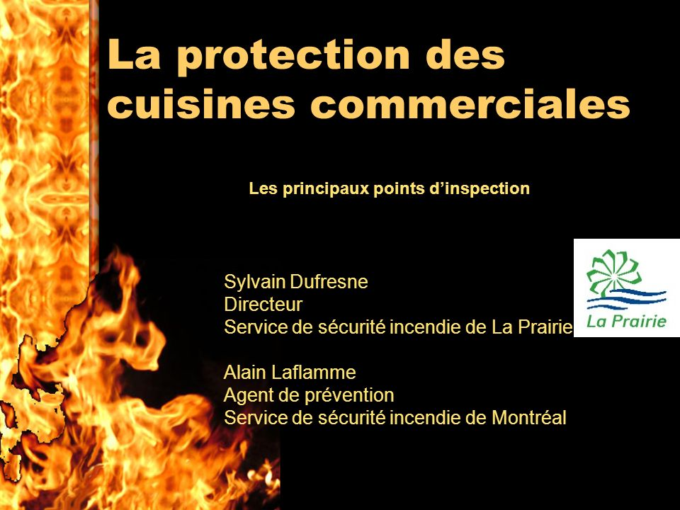 La protection des cuisines commerciales