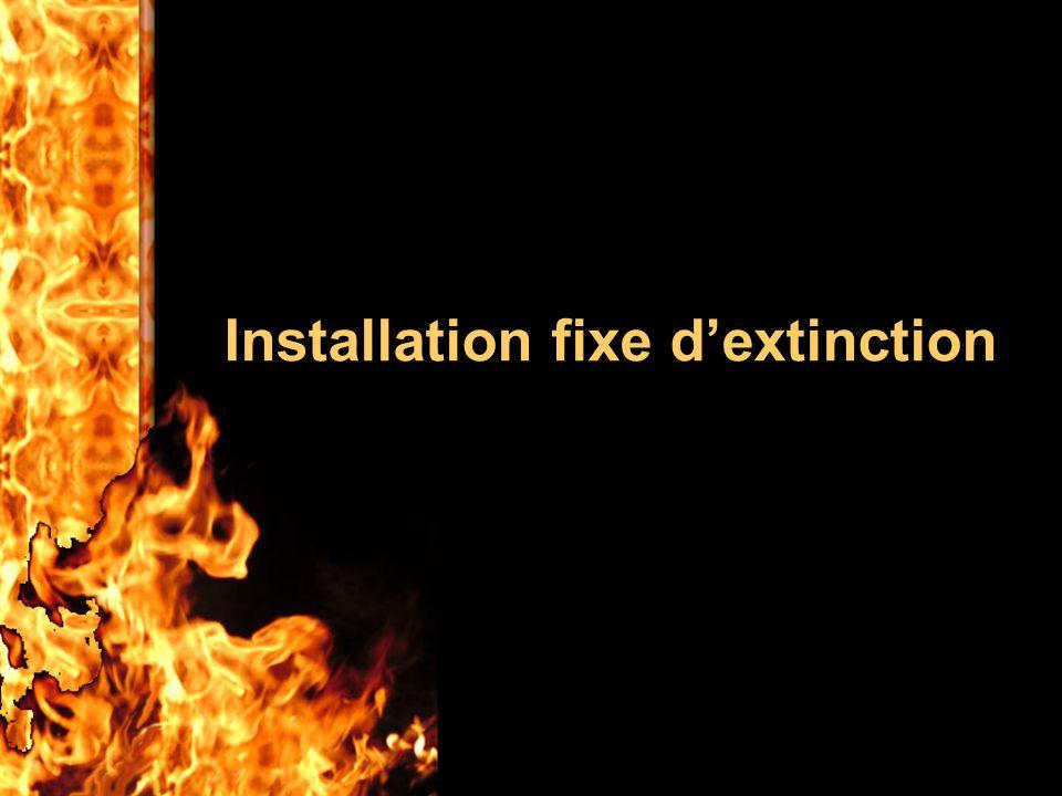 Installation fixe d'extinction