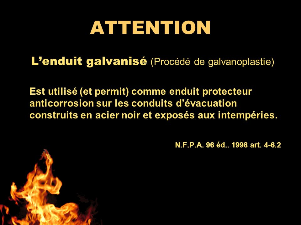 ATTENTION L'enduit galvanisé (Procédé de galvanoplastie)
