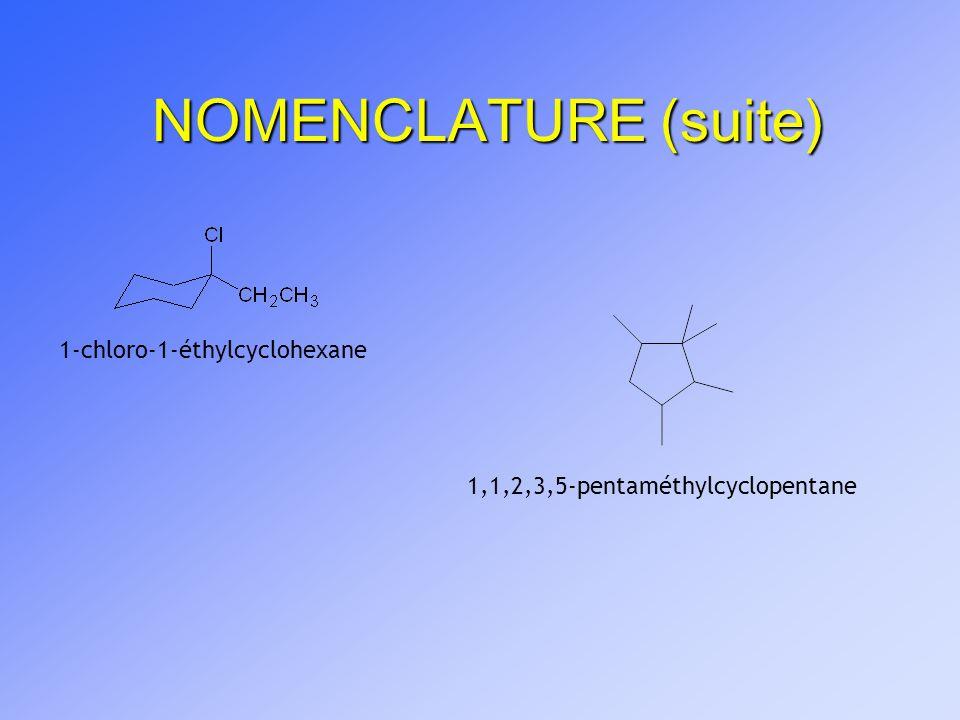 NOMENCLATURE (suite) 1-chloro-1-éthylcyclohexane