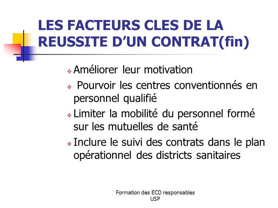 LES FACTEURS CLES DE LA REUSSITE D'UN CONTRAT(fin)
