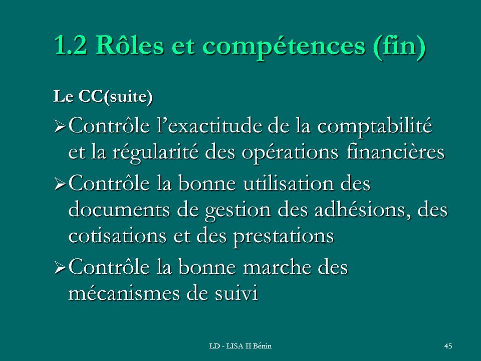 1.2 Rôles et compétences (fin)