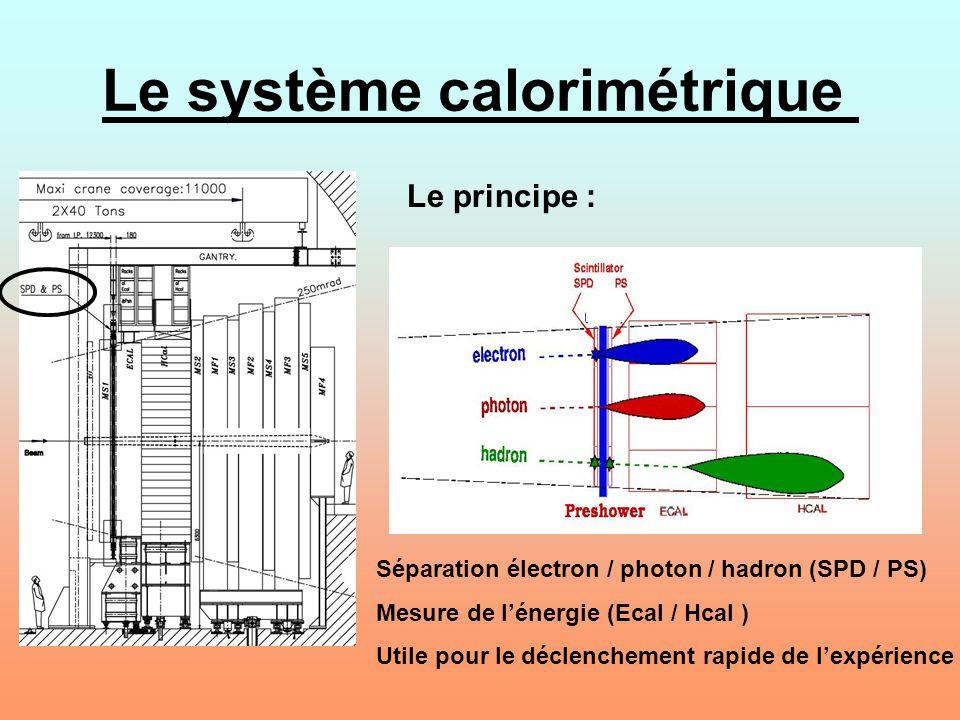 Le système calorimétrique