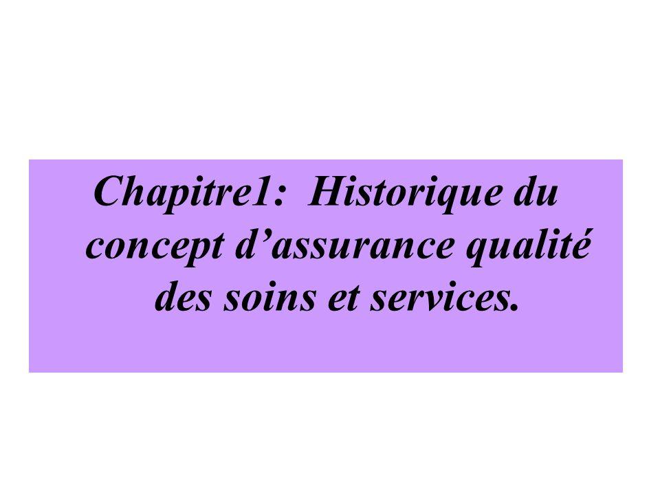 Chapitre1: Historique du concept d'assurance qualité des soins et services.
