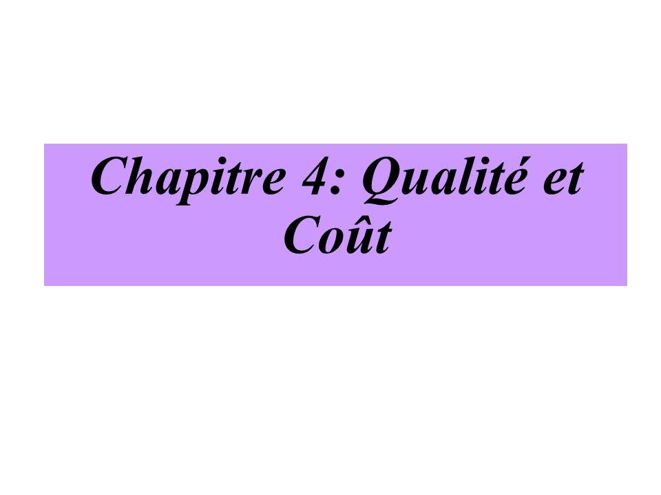 Chapitre 4: Qualité et Coût