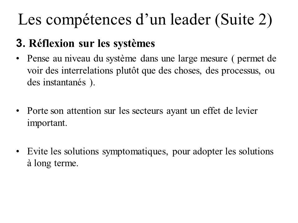 Les compétences d'un leader (Suite 2)
