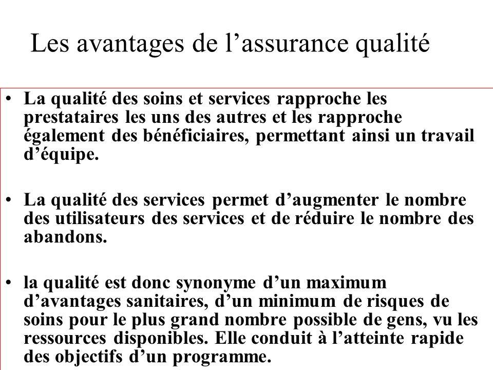 Les avantages de l'assurance qualité